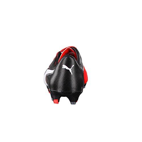 Puma Evopower 1.3 Lth FG, Scarpe da Calcio Uomo Red Blast-Puma White-Puma Black