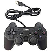 Poulep USB-Gamepad mit Kabel, für PC/Computer / Laptop/Windows / Joystick/Gamepad (schwarz) - Motor Treiber-fenster