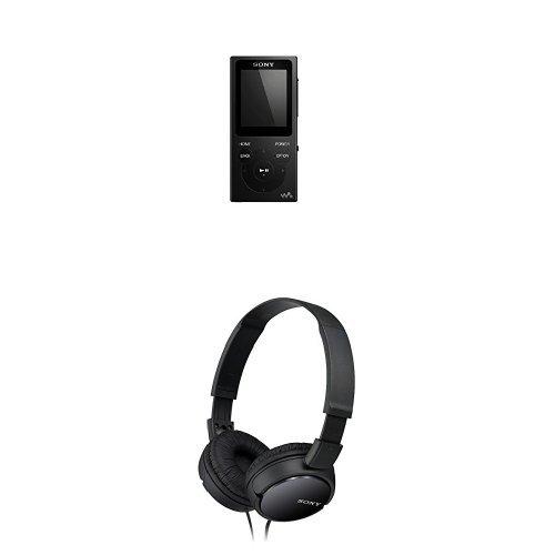 Sony NWE393B.CEW Lettore Digitale Portatile, Nero + Sony MDR-ZX110 - Cuffie, Frequenza 12 Hz-22 kHz, 1000 mW, Nero