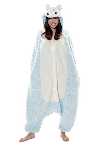 Kostüm Samurai Blau Erwachsene Für - Sazac Kigurumi Pajama Alpaca Blau Verkleidung Kostüm