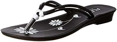 FLITE Women's Black Flip-Flops-5 UK/India (38 EU) (PUL033L)