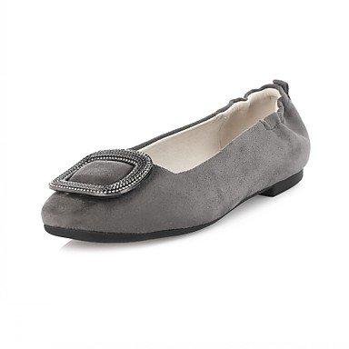 Wuyulunbi @ Femmes Chaussures Printemps Automne Confort Nouveauté Lumière Semelles Appartements Plats Round Toe Strass Pour Vêtements Décontractés Noir Gris Us6 / Eu36 / Uk4 / Cn36
