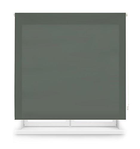 Blindecor Ara - Estor enrollable translúcido liso, Gris Pastel, 160 X 175 Cm