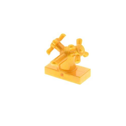 Bausteine gebraucht 1 x Lego System Wasserhahn perl Gold 1x2 mit 2 Drehregler Räder Zubehör Wohnen Bad Puppenhaus für Set Friends 3188 7586 10220 10229 4520972 6936 (Lego 10229)