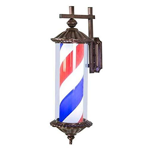 Barbershop Pole rot weiß blau Beleuchtung und rotierenden Streifen mit LED-Lampe 73 cm(Red) - Im Freien Pole-lampe