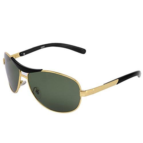 Silver Kartz Oval Unisex Sunglass (wy067|40|Green)