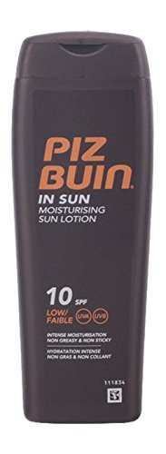 Piz buin in sun moisturizing lotion, factor de protección solar 10 200 ml