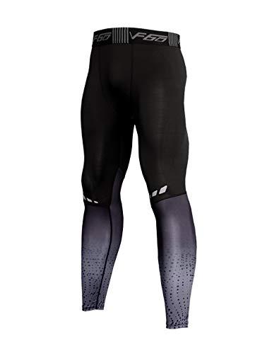 Muscle Alive Uomo Palestra Bodybuilding Compressione Gambale Collant Allenarsi Fitness Pantaloni Livello Base Freddo Secco