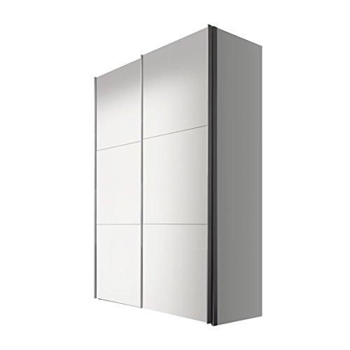 Express Möbel Schwebetürenschrank 150 cm Weiß-Polarweiß, 2-türig, BxHxT 150x236x68 cm, Art Nr. 46760-070