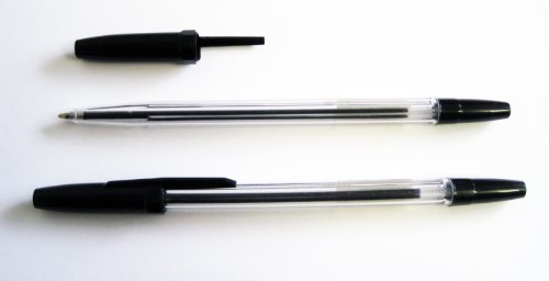 Kugelschreiber Set mit Einwegkugelschreiber - 100 Stück - Kugelschreiber in der Farbe schwarz