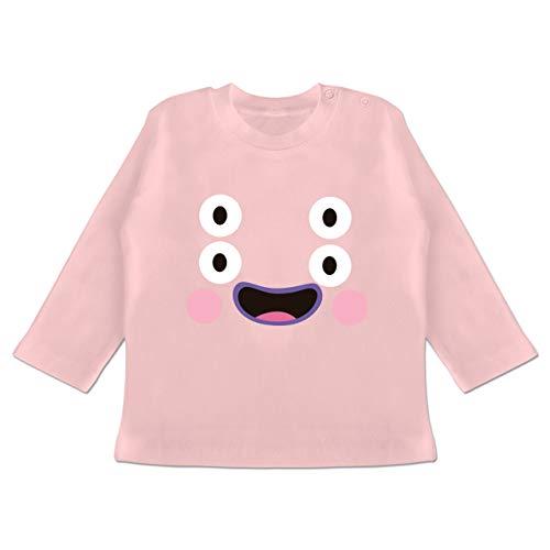 Karneval und Fasching Baby - Monster Kostüm Karneval - 18-24 Monate - Babyrosa - BZ11 - Baby T-Shirt ()