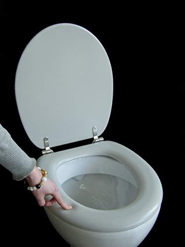 Polsi Soft WC Sitz gepolstert Farbe manhattan grau mit Edelstahlscharnieren -