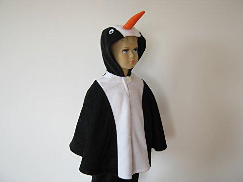 fasching karneval halloween kostüm cape für kleinkinder pinguin (Pinguin-halloween-kostüm Kleinkind Für)