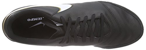 Nike Tiempo Genio II Leather TF, Chaussures de football homme Black/White