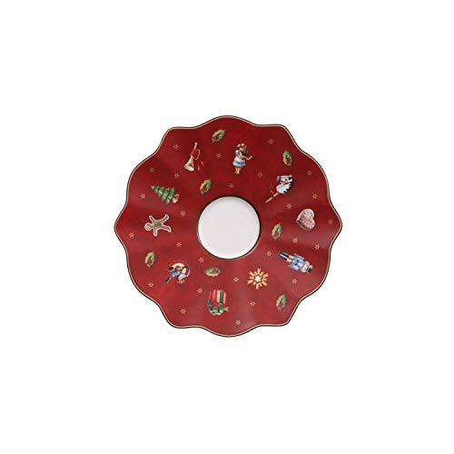 Villeroy & Boch Toy's Delight Mokka-/Espresso-Untertasse, 13 cm, Premium Porzellan, Rot