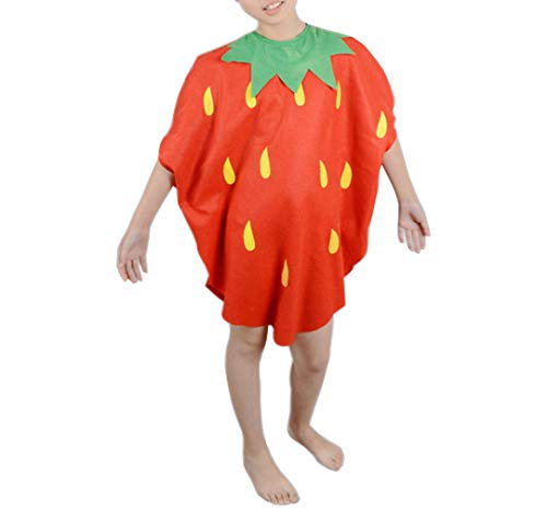 zhbotaolang Kinder Obst Halloween Kostüme Jungs Leicht Rollen Spielen Outfits Mädchen Party Fancy Kleid (Erdbeere) (Mädchen Für Erdbeer-outfits)