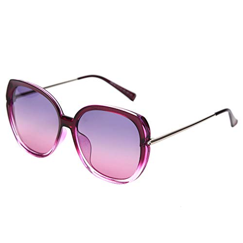 PFMY.DG Sonnenbrille Vintage Sonnenbrille im angesagte mit,Brillen Trends 2019,Purple