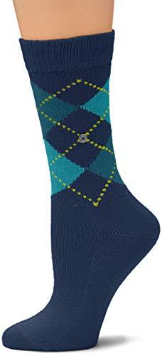 Burlington Damen Whitby Socken, per pack Mehrfarbig (bluebay 6581), 36/41 (Herstellergröße: 36-41)
