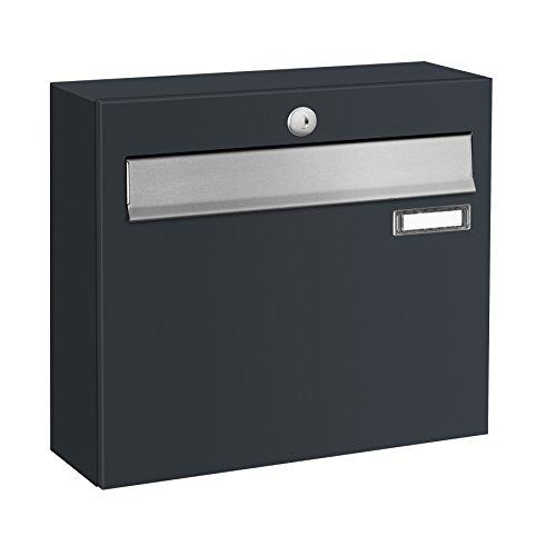 Briefkastenanlage LUIS von Frabox in RAL 7016 anthrazitgrau, mit 6 Briefkästen - 3
