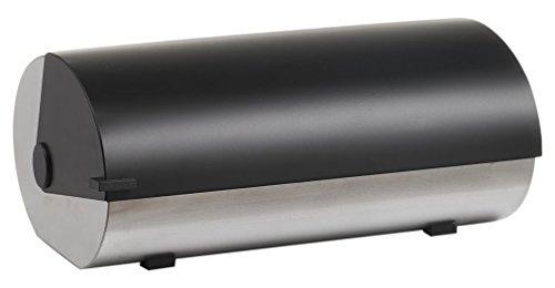 Zeller 27289 Brotkasten, Edelstahl/Metall, schwarz, 42 x 27 x 18 cm