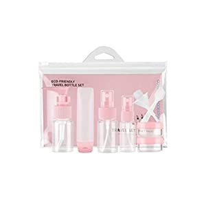 Healifty Kulturflaschen-Set Portable Container Sprayer-Sets für die Reise (Pink)