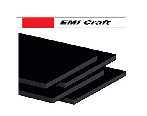 Tischkarten Feder Schaumstoff schwarz Classic A3, 5 mm 4 Stück, EMI Craft, hergestellt in Frankreich