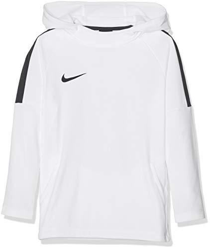 Nike Jungen Dry Academy18 Football Hoodie Pullover,Weiß (white/black/white/(black), XL