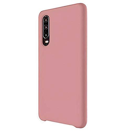 2Buyshop Compatible Huawei P30 lite P30 Pro Hülle, Weiche Silikon Flexibel Huawei P30 lite Schutzhülle Breathable Handyhülle Huawei P30 Anti-Kratzer Stoßfest Gehäuse (Rosa, P30)