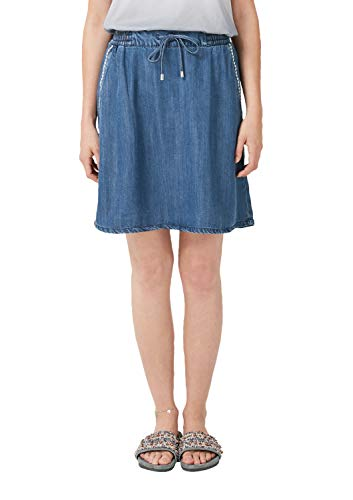 s.Oliver Jeans DENIMROCK Blue Denim Non Stretch - 36 - Stickerei-jeans-rock