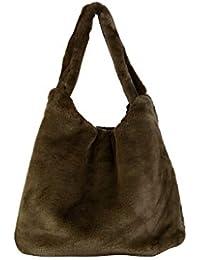 1644d9f486 Angkorly - Bolsos tote cabas shopper a tracolla Tote bag Tote bag pelliccia  finta molto dolce