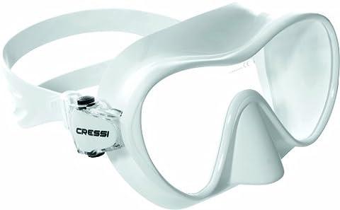 Cressi Jungen Maske F1 Junior Frameless, Weiß, ZDN311030