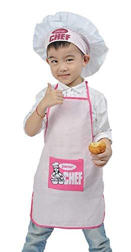 Inception pro infinite Rosa - Einheitsgröße Kostüm Uniform Koch Junior Kinder Hut Schürze Verkleidung Karneval Halloween Cosplay Zubehör Unisex Bimbo Bimba