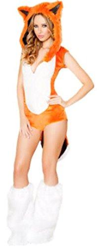 harrowandsmith British Fashion Store Damen Sexy Fox Hoodies Short Sleeve Fanny Cute Halloween-Kostüm SEXY FOX Kostüm Kleid Sexy Kostüm tragen, UK (Kostüme Fox 8 Halloween)