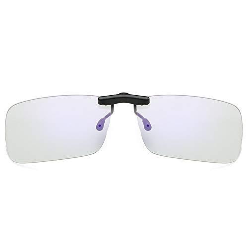 LIUYIAO Anti-Blu-Ray Brille Clip-Typ Männer Und Frauen Computerschutzbrille Myopie Augen Spezielle Handy-Strahlenschutz Augenclip,Gray