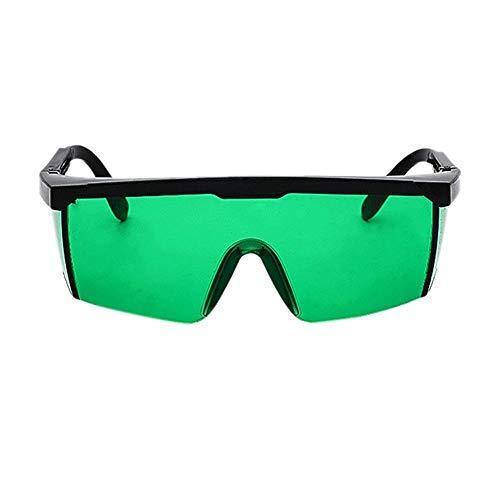 Laser Protect Schutzbrille PC Eyeglass Welding Laser Eyewear Augenschutzbrille Unisex Black Frame Lightproof Glasses (Color : Green color)