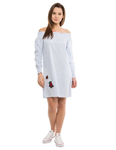 Tokyo Talkies Women's Cotton A-Line Dress (TTJ6001249_White_S)