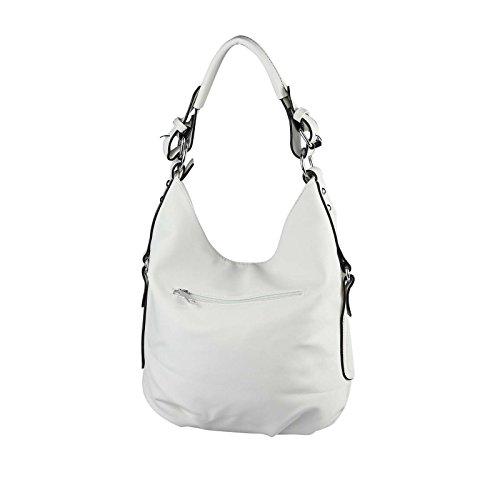 OBC Donna Borsa shopper hobo-bag Borsa con manici borsa a tracolla Borsa Crossover Borsa Tracolla Borsa Donna Borsa da viaggio Borsa marsupio - bianco, ca 33x30x12 cm ( BxHxT ) bianco
