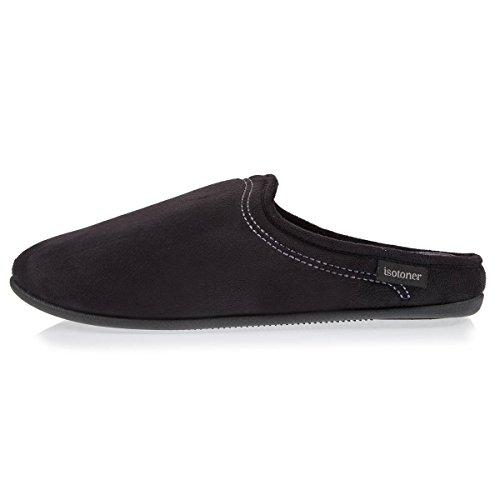 Isotoner Chaussons Mules Homme Confort Noir