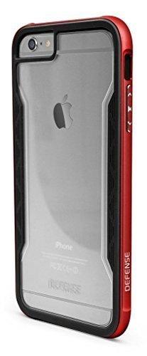 X-Doria D¨¦fense Bouclier robuste [grade militaire protection D¨¦rouler] TPU Case avec Bumper Case Rail d'aluminium pour iPhone 6s Plus & iPhone 6 Plus (5,5 pouces) (Rouge) Red