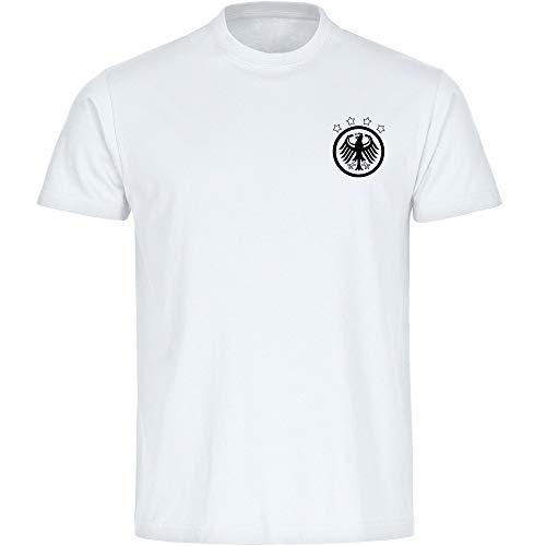 T-Shirt Deutschland Adler Retro Trikot Herren weiß Gr. S - 5XL - Fanshirt Fanartikel Fanshop Fußball WM EM Germany,Größe:XXXXL