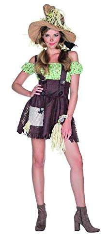 e Kostüm Kleid Größe 38 Damen Karneval Bauernhof Halloween Scarecrow Bäuerin ()