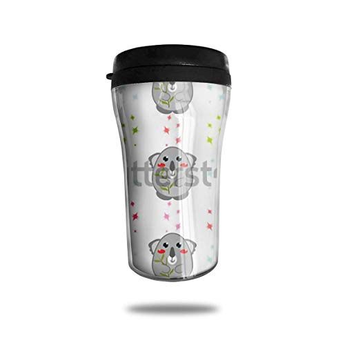 Jxrodekz Klassische Reise-Becher Australien Koala Bär Reise Becher Tasse für Kaffee, Getränke, 8 Unzen, Anti-Spill -
