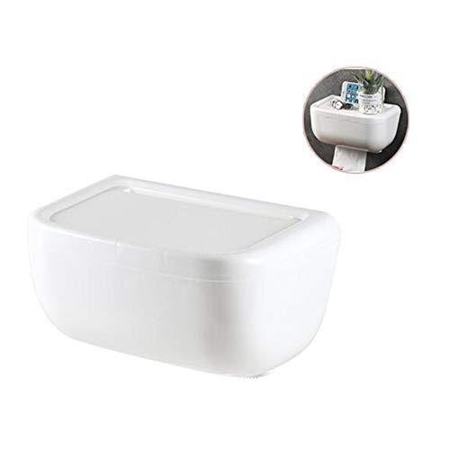 ZhiWei Toilettenpapierhalter, Selbstklebender Papiertaschentuchspender zur Wandmontage für Badezimmer, Schlafzimmer, Arbeitszimmer und Küche, wasserdicht,Weiß