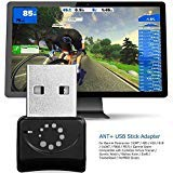 Onlyesh Zwift ANT+ USB-Transmitter und -Empfänger, USB-Stick und -Adapter für ANT+, tragbarer USB-Stick, für Garmin Forerunner 310XT und 405