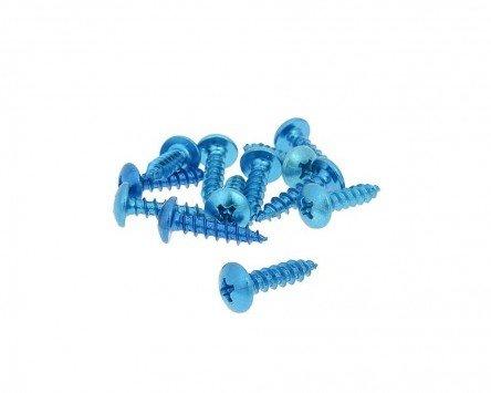Schraubensatz 12 Stück Verkleidung - M5 20mm blau