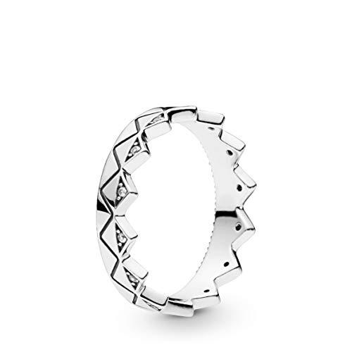 Pandora Damen-Ring Exotische Krone Silber Ringgröße 60/19,1 198033CZ-60