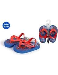 idealcasa Kids Chaussures Plage avec caoutchouc Spiderman bleu