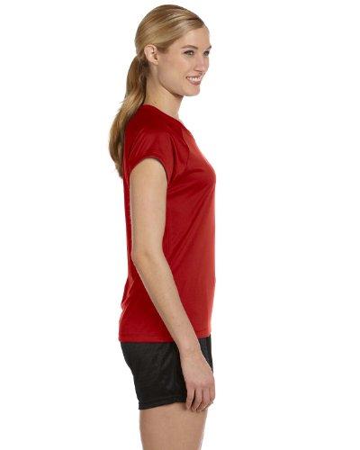 Champion - T-shirt de sport - Manches Courtes - Femme Rouge - Rouge écarlate