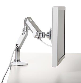 Humanscale Monitor Arm: M8-abgewinkelt/Dynamic Arm-Standard Kugelgelenk Clamp On Mount weiß -