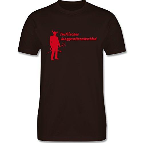 JGA Junggesellenabschied - Teuflischer Junggesellenabschied - Herren Premium T-Shirt Braun